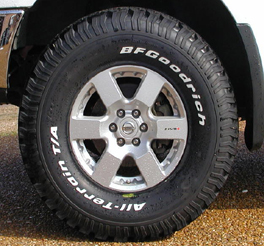 bfgoodrich mud terrain km2 tyre fitted to the vw volkwagen amarok