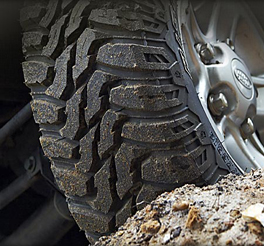 Cooper discoverer STT mud terrain  tyre fitted to the vw volkwagen amarok