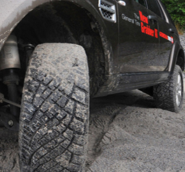 General grabber at tyre fitted to the Landrover Discovery