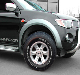bfgoodrich t/a ko at tyre fitted to the mitsubishi L200 pickup